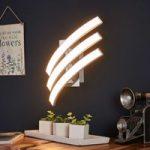 Three-bulb LED wall light Largo