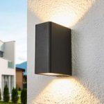 Angular aluminium LED outdoor wall lamp Alvarie