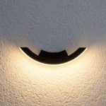 Graphite-coloured LED outdoor wall light Half