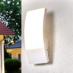White LED outdoor wall lamp Siara, curved form